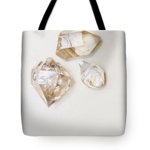 Tote Bag featuring the photograph Quartz Crystals by Jorgo Photography - Wall Art Gallery