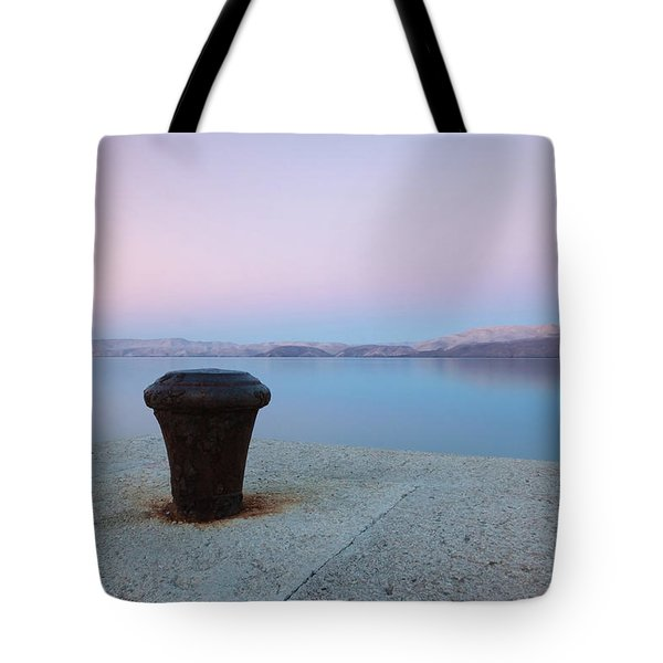 Tote Bag featuring the photograph Quay In Dawn by Davor Zerjav