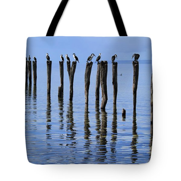 Tote Bag featuring the photograph Quay Rest by Stephen Mitchell