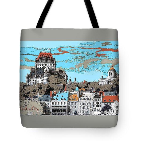 Quebec City Canada Poster Tote Bag