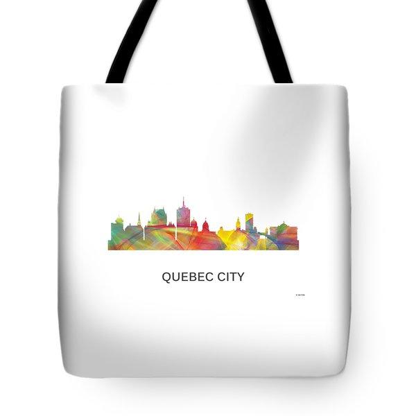 Quebec City Que. Skyline Tote Bag