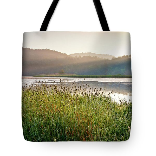 Tote Bag featuring the photograph Quechee Sunrise by Susan Cole Kelly