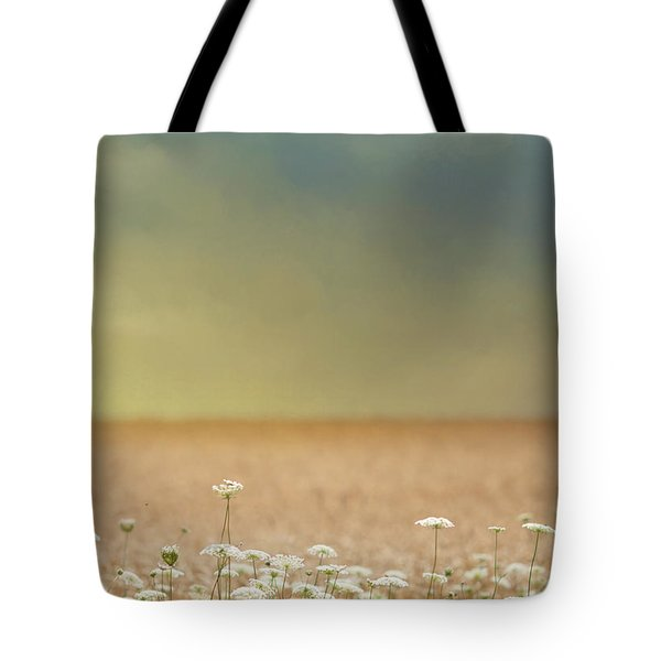 Tote Bag featuring the photograph Queen Anne And Wheat by Rebecca Cozart