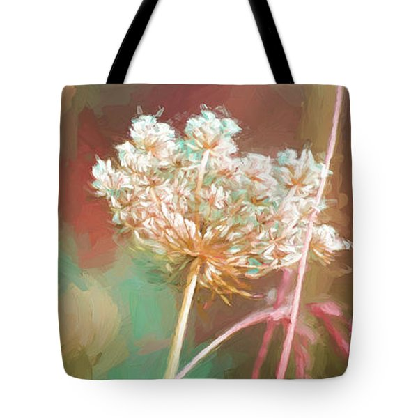 Tote Bag featuring the digital art Queen Anne Impasto by Bonnie Bruno