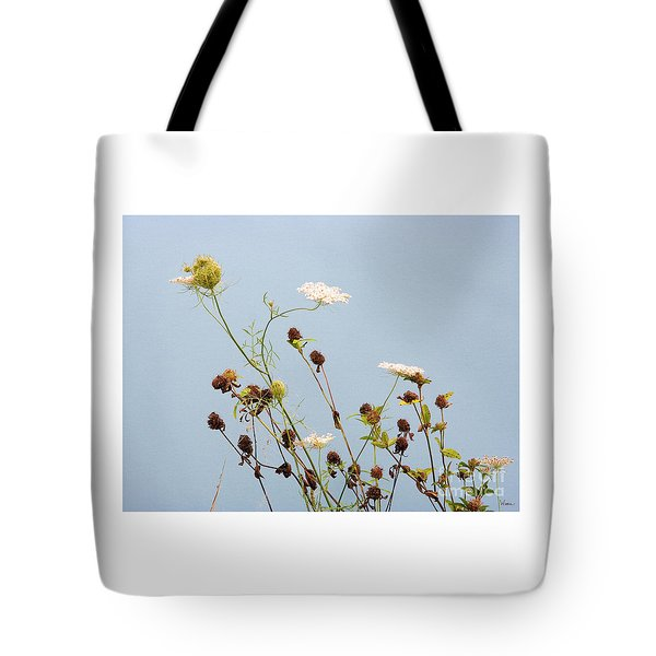 Queen Anne's Lace And Dried Clovers Tote Bag
