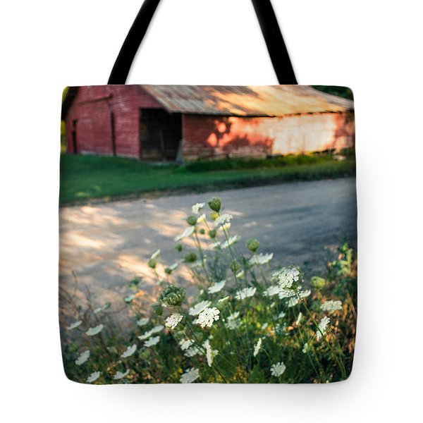 Queen Anne's Lace By The Barn Tote Bag