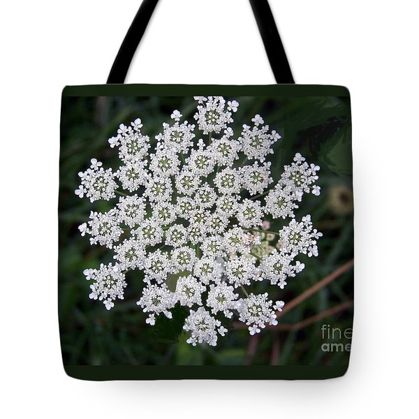 Tote Bag featuring the photograph Queen Anne's Lace by Charles Robinson