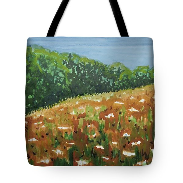 Queen Anne's Lace Field Tote Bag by Bethany Lee