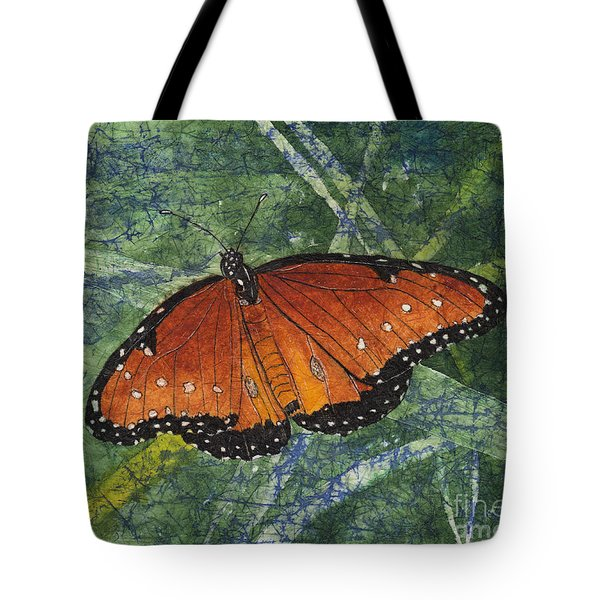 Queen Butterfly Watercolor Batik Tote Bag