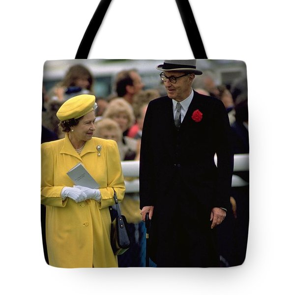 Queen Elizabeth Inspects The Horses Tote Bag
