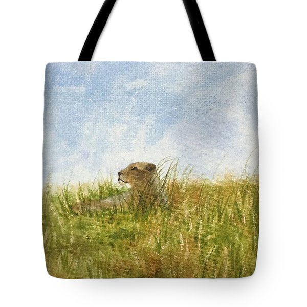 Tote Bag featuring the painting Queen by Elizabeth Mundaden