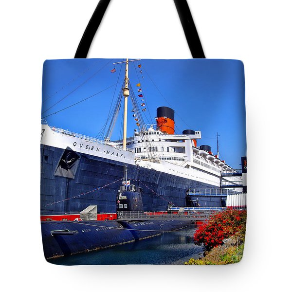 Queen Mary Ship Tote Bag
