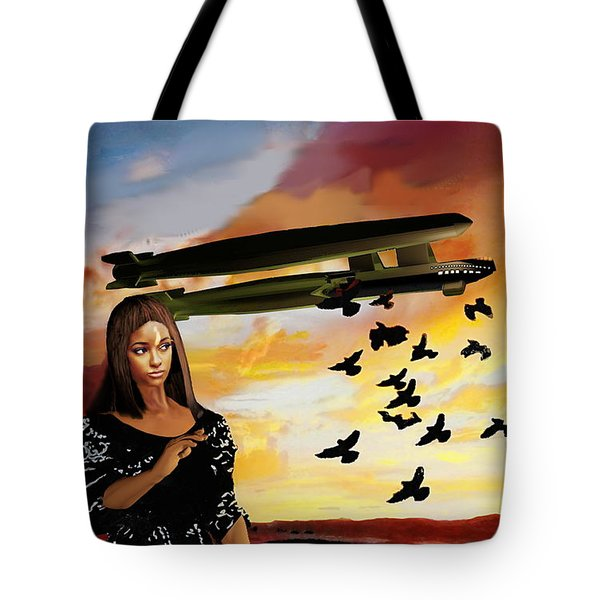 Queen Of Crows Sketch Tote Bag