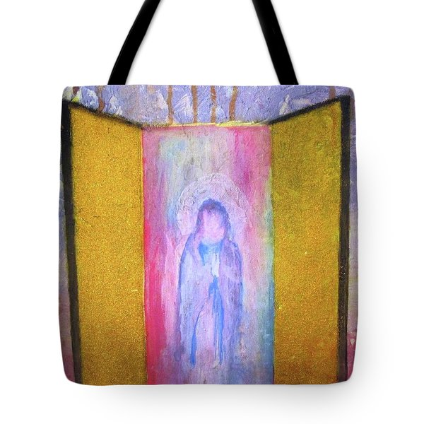 Tote Bag featuring the painting Queen Of Heaven by Mary Ellen Frazee
