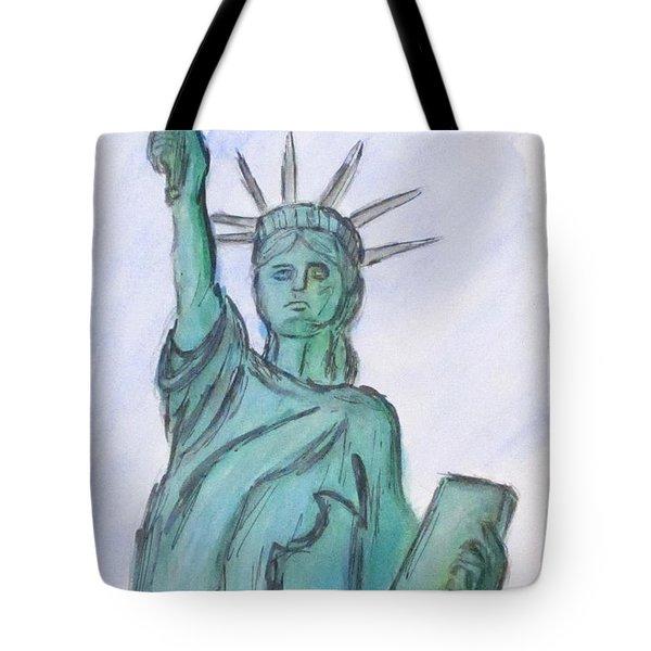 Queen Of Liberty Tote Bag