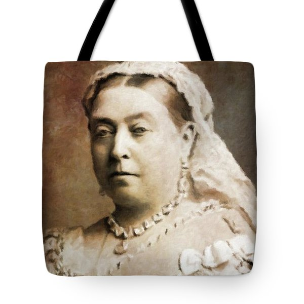 Queen Victoria, History Portraits By Mary Bassett Tote Bag