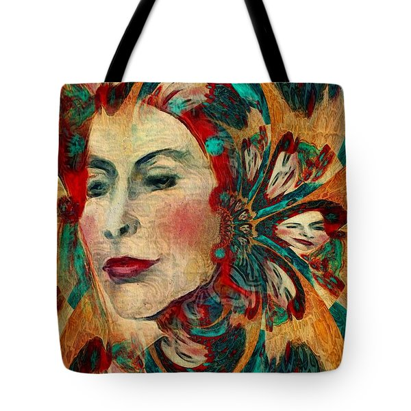 Tote Bag featuring the digital art Queenie by Alexis Rotella