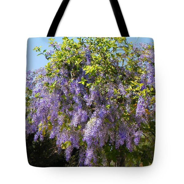 Tote Bag featuring the photograph Queen's Wreath Vine by Rosalie Scanlon