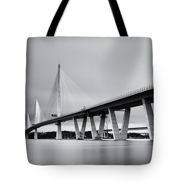 Queensferry Crossing Bridge Mono Tote Bag