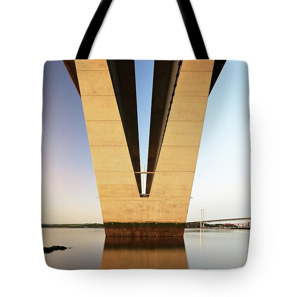 Under The Queensferry Crossing Bridge Tote Bag