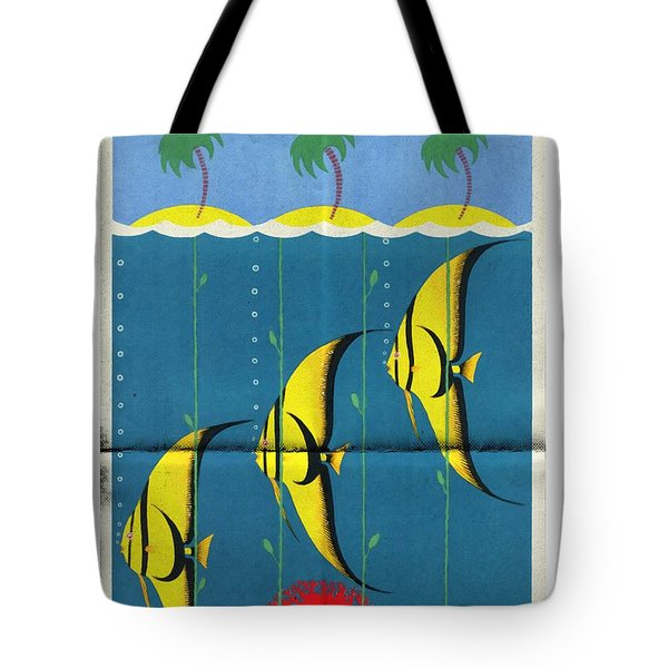 Queensland Great Barrier Reef - Vintage Poster Folded Tote Bag