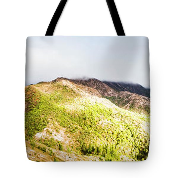 Queenstown Tasmania Wide Mountain Landscape Tote Bag
