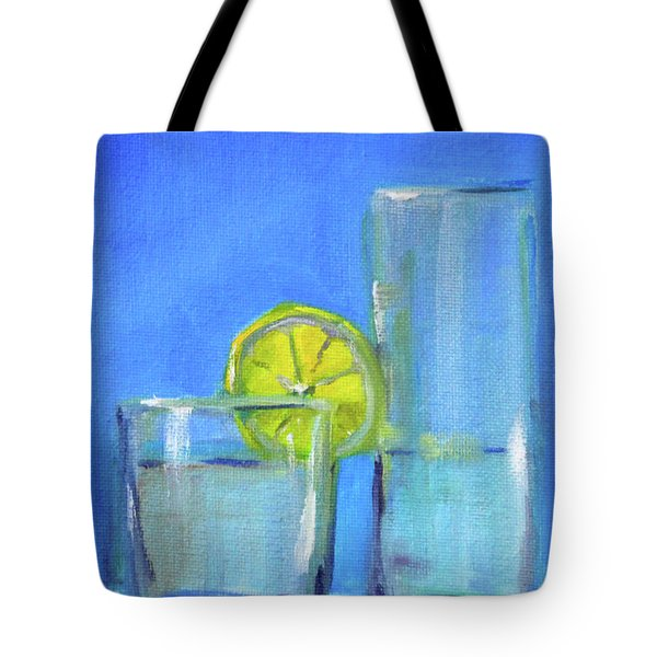 Tote Bag featuring the painting Quench by Nancy Merkle