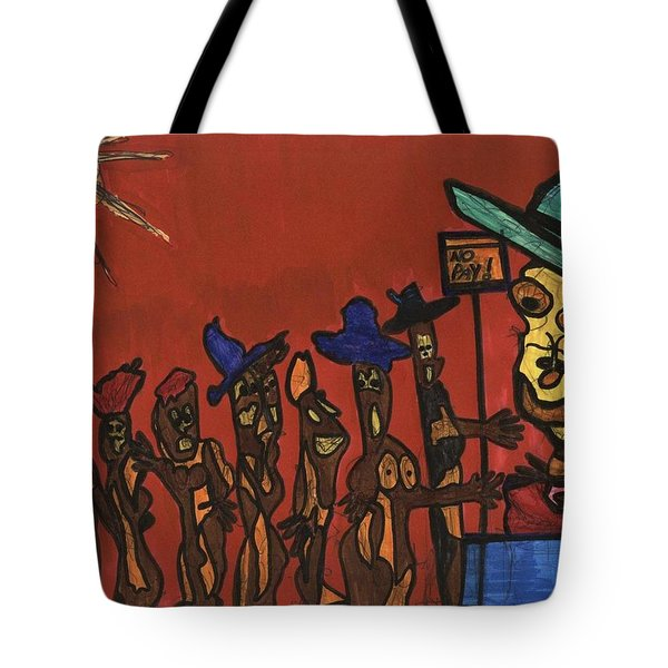 Queuing For Residuals  Tote Bag