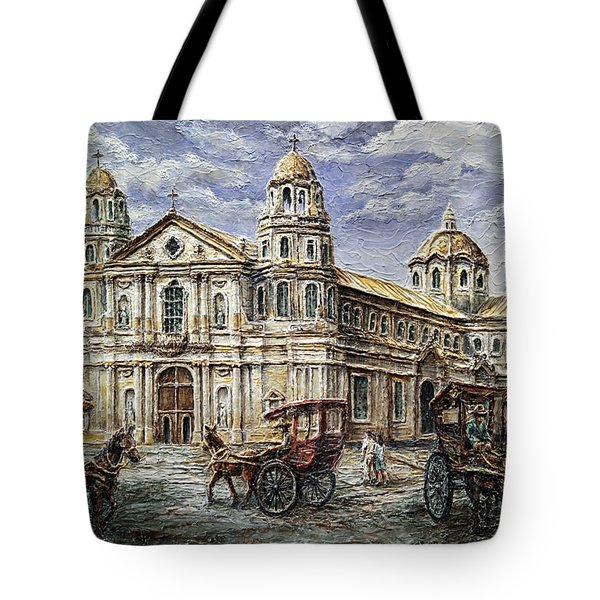 Quiapo Church 1900s Tote Bag by Joey Agbayani