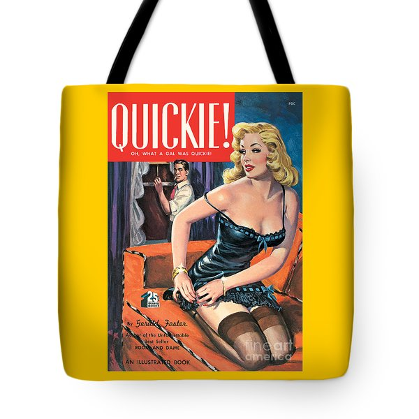 Tote Bag featuring the painting Quickie by George Gross