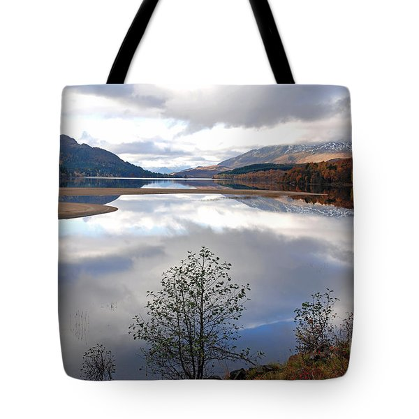 Quiet Autumn Day - Loch Laggan Tote Bag