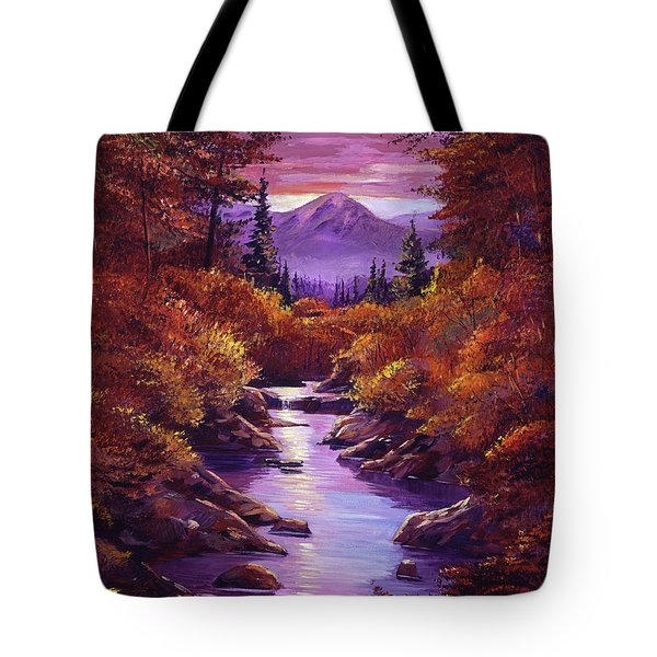 Quiet Autumn Stream Tote Bag