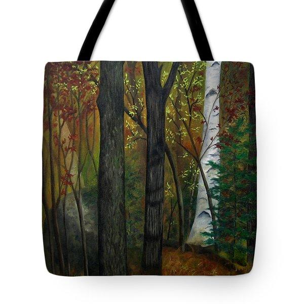 Quiet Autumn Woods Tote Bag