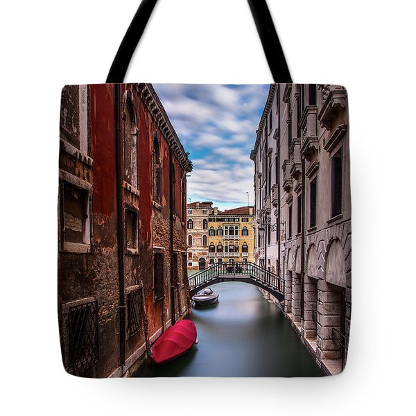 Tote Bag featuring the photograph Quiet Canal In Venice by Andrew Soundarajan