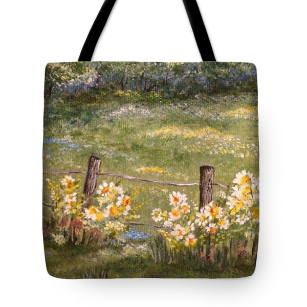Quiet Field Tote Bag