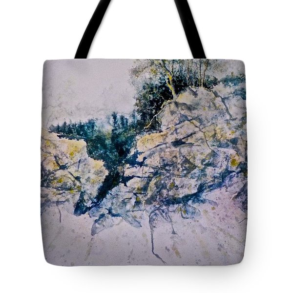 Tote Bag featuring the painting Quiet Journey by Carolyn Rosenberger