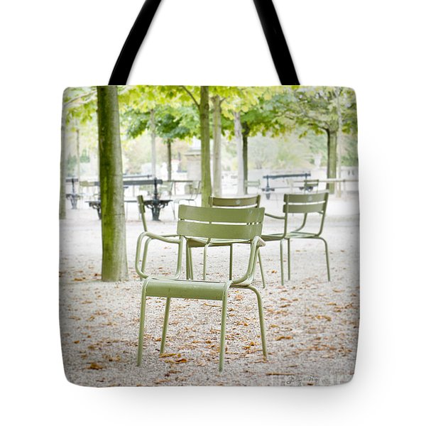 Quiet Moment At Jardin Luxembourg Tote Bag