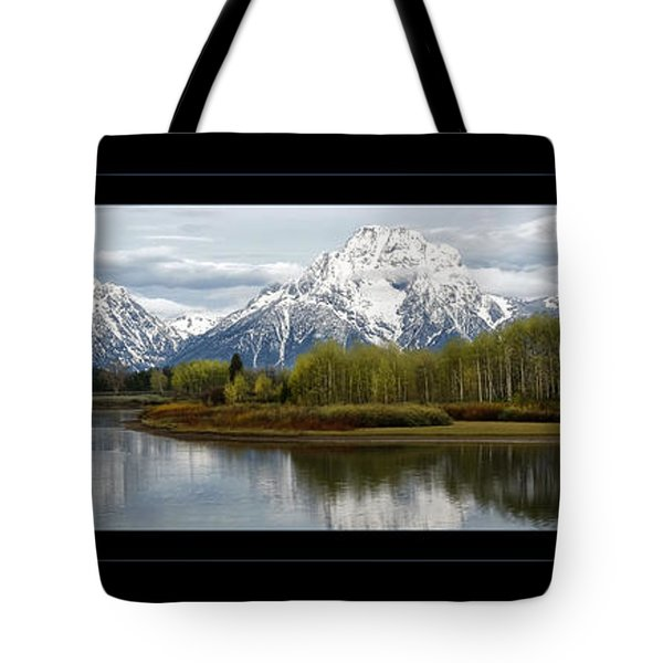 Tote Bag featuring the photograph Quiet Morning At Oxbow Bend by Jaki Miller