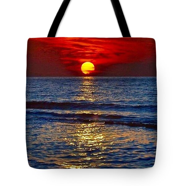 Quiet On The Ocean Tote Bag