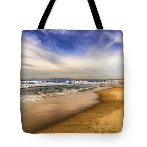 Tote Bag featuring the photograph Quiet Reflections Of Hermosa by Michael Hope
