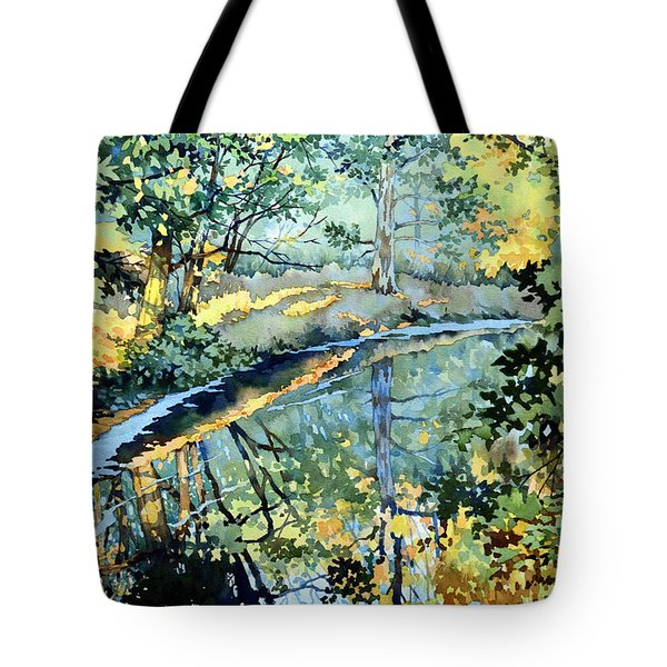 Quiet Stream Near Milk House Tote Bag