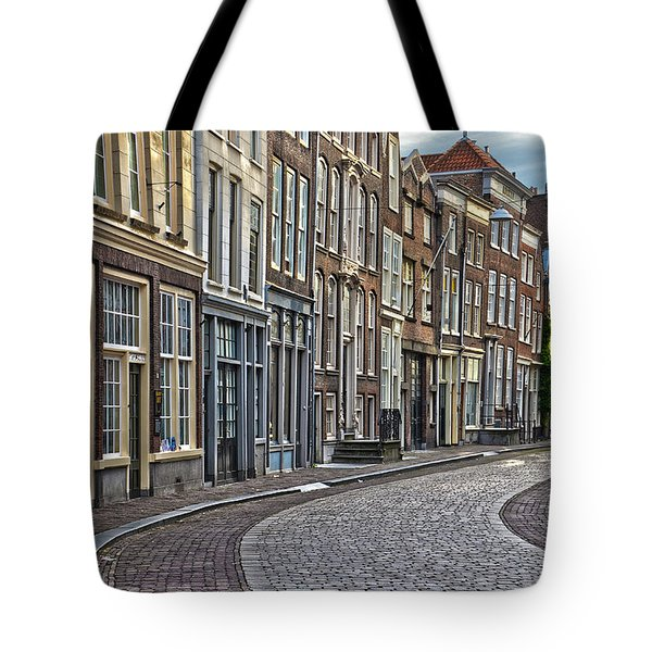 Quiet Street In Dordrecht Tote Bag