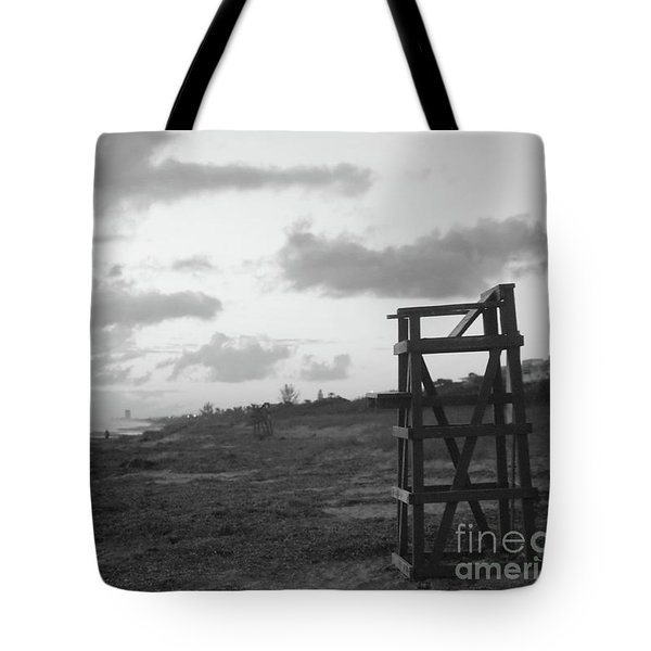 Quiet Sunrise Bw Tote Bag