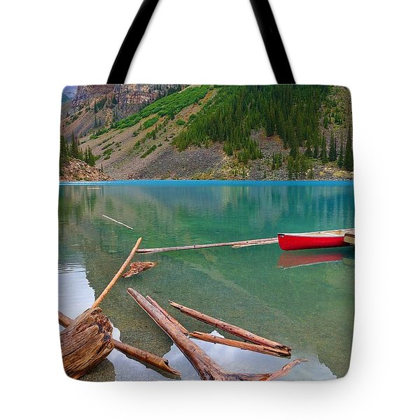 Moraine Lake I, Alberta Tote Bag
