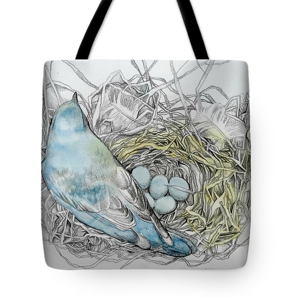 Tote Bag featuring the drawing Quiet Time by Rose Legge