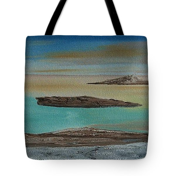 Tote Bag featuring the painting Quiet Tropical Waters by Rod Jellison
