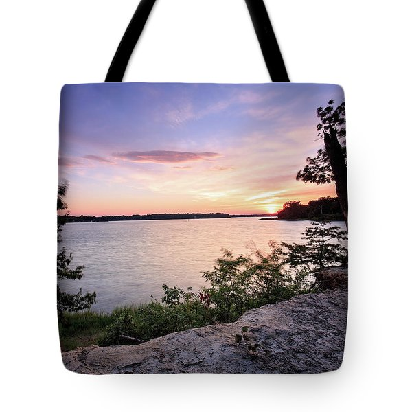 Tote Bag featuring the photograph Quiet Waters Crop by Jennifer Casey