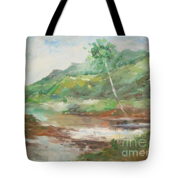 Tote Bag featuring the painting Quietness by Rushan Ruzaick