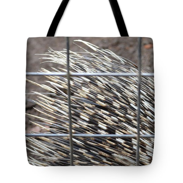 Quills Of An African Porcupine Tote Bag by Linda Geiger