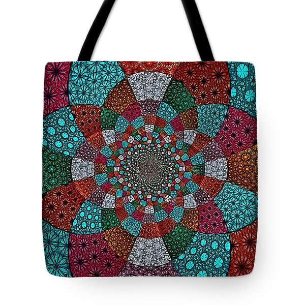 Quilted Glasswork Tote Bag